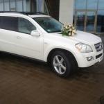 Mercedes GL-class белого цвета