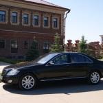 Mercedes S-class для свадьбы черного цвета